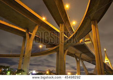Bhumibol Bridge Of Thailand