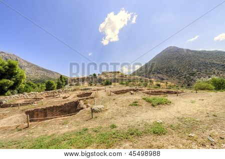 Ancient Site Of Mycenae, Greece