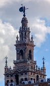 Bell Tower Cathedral Of Saint Mary Of The See Spire Weather Vane Seville Spain