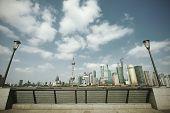 Lujiazui Finance&trade Zone Of Shanghai Landmark Skyline At New City Landscape poster