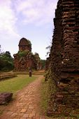 foto of champa  - My son a complex of the Champa architecture in Vietnam - JPG