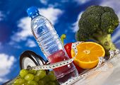 stock photo of measurements  - Healthy lifestyle concept - JPG