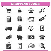 foto of receipt  - Vector set of shopping and money icons and design elements for web pages e - JPG