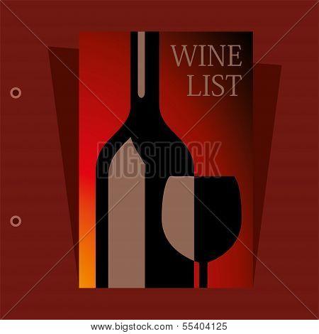 Vector Wine List Design