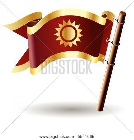 Sun on royal flag