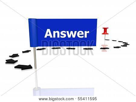 Push pin to answer