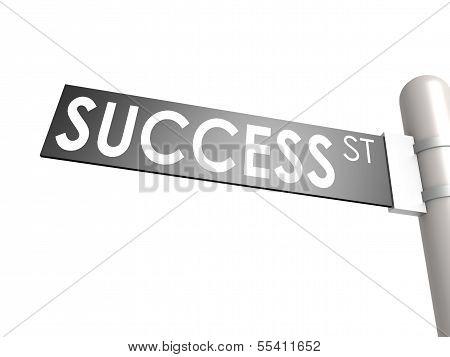 Success street sign