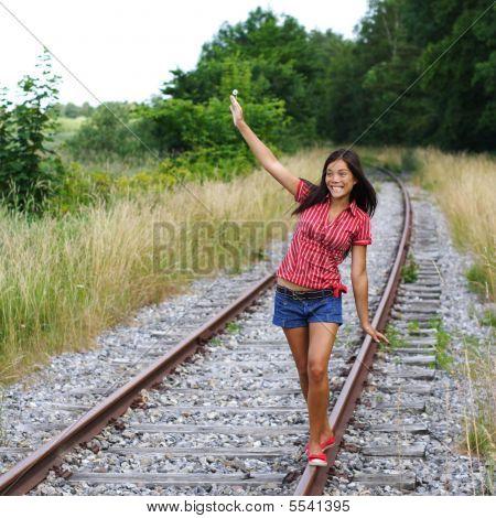Walking On Rails / Railroad Tracks