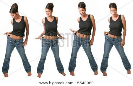 Multiple Views Of A Dieting Woman