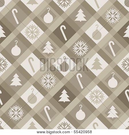 Sepia Christmas Quilt Background