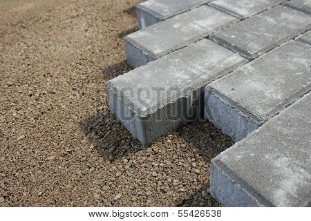 sidewalk from bricks