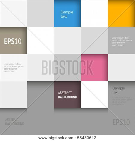 Abstract background with geometric shapes - squares.