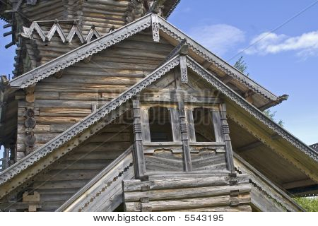 Part Of Wooden Church