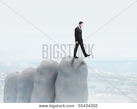 Businessman Falls