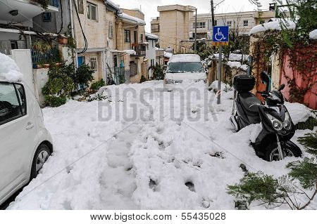 Jerusalem In Snow