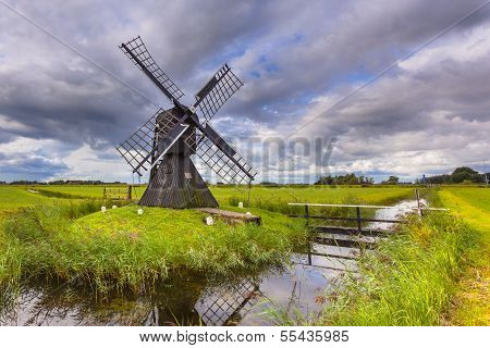 Dutch Wooden Windmill