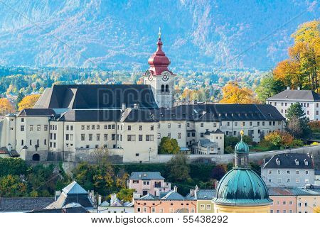 General view of the historical center of Salzburg, Austria