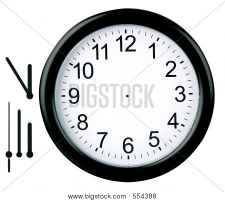 Round Clock Isolated