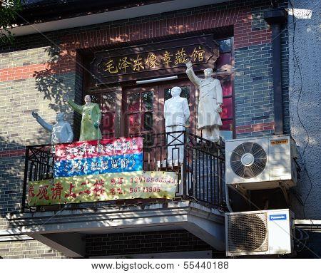 Shanghai - Nov. 15.2013 Chinaa Statue  Mao Zedong