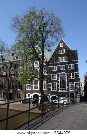 Amsterdam  Canal Bridge And Houses Ii