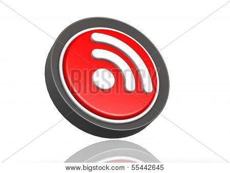 RSS feed round icon