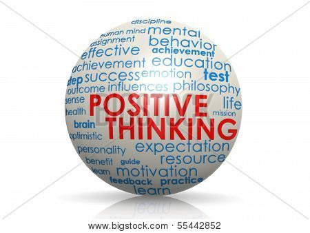 Positive thinking sphere