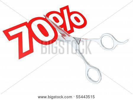 Cut 70 percent