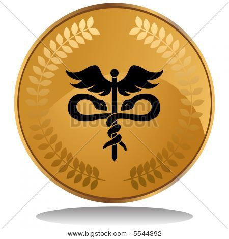 medical symbol coin