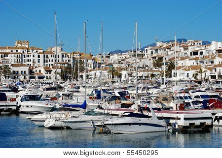 Harbour and town, Puerto Banus, Spain.