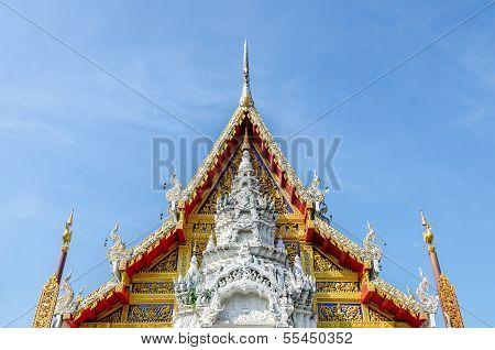 Tympanum Of Wat Phra That Su Thon Mongkhon Khiri Samakkhi