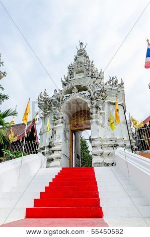 Entrance Ladder Of Wat Phra That Cho Hae (the Royal Temple), Phrae Province, Thailand