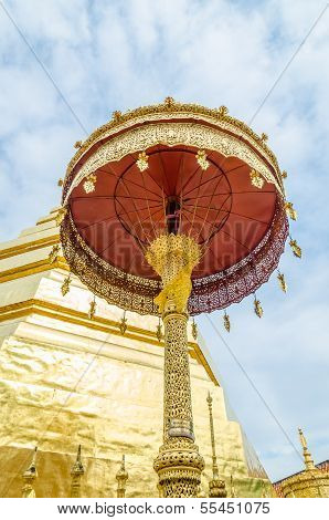 Golden Umbrella At Wat Phra That Cho Hae