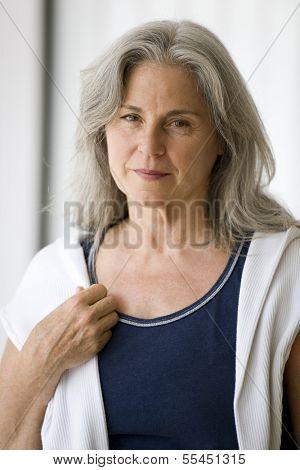 Portrait of a serene senior woman
