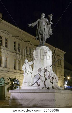 Kossuth statue in Szeged