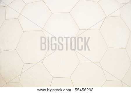 Close Up Of Hexagonal Geodesic Dome
