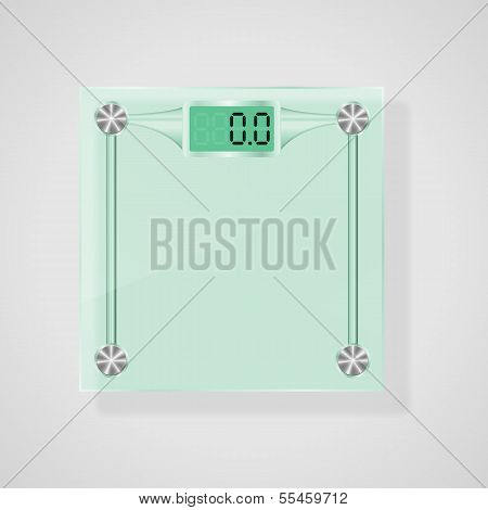 Transparent Glass Scales. Vector