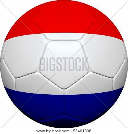 Dutch Netherlands Flag With Soccer Ball