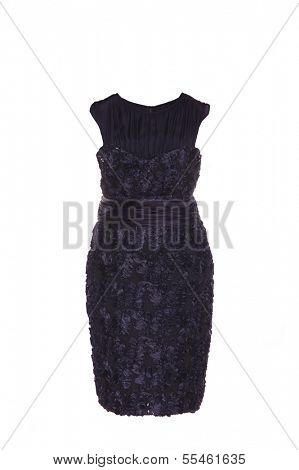close up shot of evening woman dress isolated on white