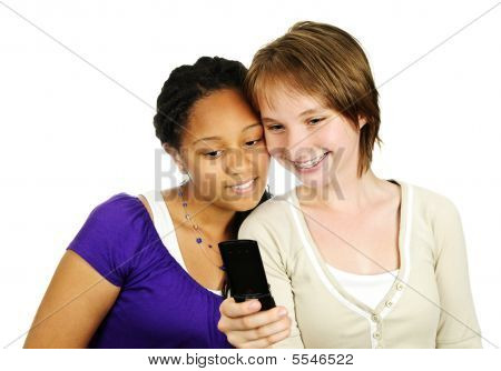 Teen Girls With Mobile Phone