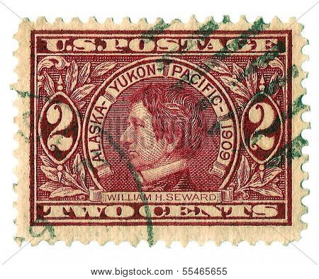 United States Stamps showing William Seward