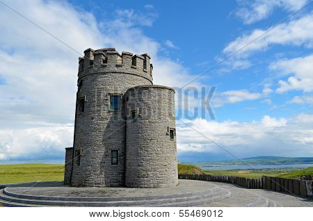 O'brien's Tower At The Cliffs Of Moher, Ireland