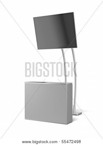 blank advertising module with tv panel