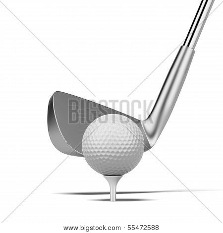 ball and golf club