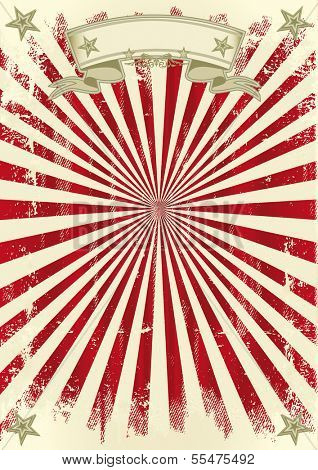 vintage red sunbeams. A sunbeams background for your poster