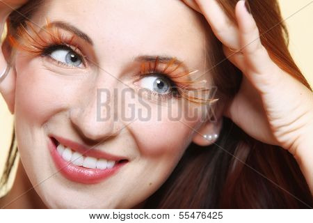 Autumn Woman Stylish Creative Make Up False Eye Lashes