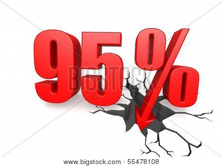 Ninety five percent down