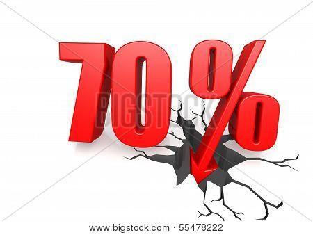 Seventy percent down
