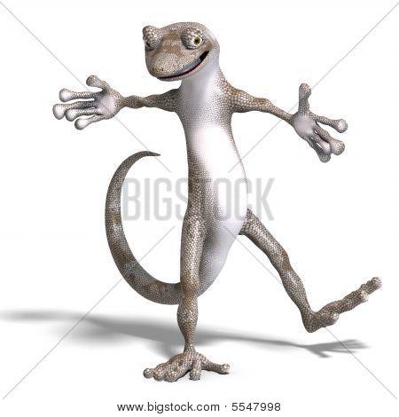 Funny Toon Gecko