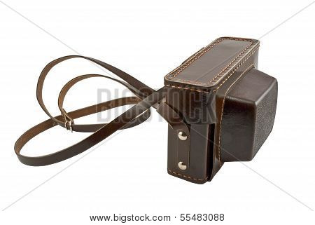 Old Brown Leather Camera Case