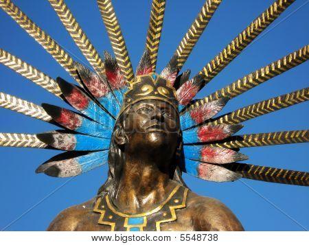 Queretaro Dancing Indian Statue